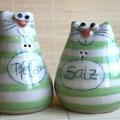 Salzstreuer Katzenpaar Artikel - Nr. 2313/ 24,- €