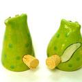 Salzstreuer Katzenpaar grün / Artikel - Nr. 2315 /  24,- €