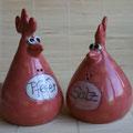 Rückseite Hühnchenpaar Artikel-Nr. 2118 - Korkenverschluß 24 €