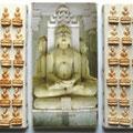 de la série Kapaspujari Palitana jaïna 1 photo moulages 40X23 cm