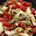 Tomaten-Artischocken-Risotto