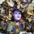 Liam in the leaves -2009