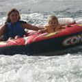 Tubing on Lake Winnesquam -- 2009