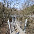 die Hängebrücke, nichts für schwache Nerven