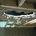 Kulisse Taft Deckendurchbruch im Vorbau