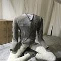 zweite Schicht aus Textilien und Tapetenkleister