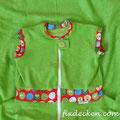 apfelgrün - Eulen rot