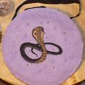 Kobra mit Bernstein u. Moosachat