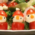 クリスマスパーティ(ツリーとサンタのサラダ)