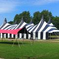 M-Tent 32mx50m Zebra & M-Cover 100 Roze