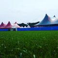 M-Tent 22,5mx44m Roze & M-Tent 22,5mx32m Blauw