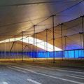 31mx62m Binnenzijde Verduisterd/Lichtdoorlatend dak