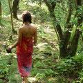 Katherine walking on ancient Tayrona paths @ Reserva Biologica Caoba