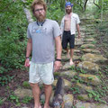 Brett and Ryan walking on the Tayrona path @ Reserva Biologica Caoba