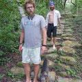 Brett and Ryan walking on the Tayrona path @ Reserva Biologica Caoba