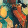 Chatte et chatons - circa 1968 - Hst - 50 x 61 cm - ©Adagp Paris 2014