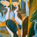 Les philosophes de Tierpark (Berne, Suisse) - 1985 - Hst - 116 x 89 cm - ©Adagp Paris 2014