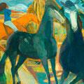 Le cheval fou - 1976 - Hst - 195 x 130 cm  - ©Adagp Paris 2014