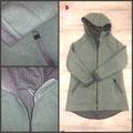 Walk Mint / Stepp Lightgrey Melange mit Reißverschluss / Taschen mit Stepp abgesetzt
