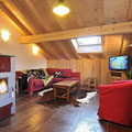 Salon A appartement les marmottes Chatel Centre