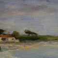 Spanish Bay, Kalifornien - Oil on Canvas - 15x30