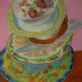 Dishes Galore - Acryl auf Leinwand - 28x36