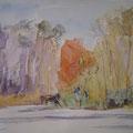 Seddiner See, Mark Brandenburg - Pastell auf Fabriano - 24x34