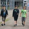 Daniel, Adrian und William sind gut drauf.