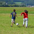 Derweil tobt das Spiel Italien - Türkei auf dem Rasen.