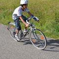 Freskim mit Rennrad klar im Vorteil beim Fahrradrennen.