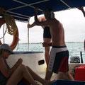 Auf dem Boot in die Lagune