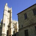 Erzbischöfliches Palais (mittelalterlicher Teil) und Kathedrale in Narbonne
