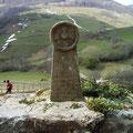 Gedenkstele an den Scheiterhaufen von Montségur