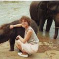 Sabine - 1990 - mit 27 Jahren auf Sri Lanka