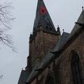 Ort des Falkenkastens beim Blick von unterhalb der Pfarrkirche. Foto:Jonas Hagge