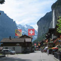 Lauterbrunnen valley with spectacular waterfall, Swtizerland