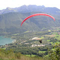 Ridge soar along the edge of Annecy, France