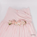 Langes Babybauch Abendkleid in rosa