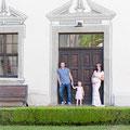 Romantisches Familien Foto Shooting Schwanger