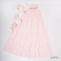 Romantisches Babybauchkleid in rosa für Fotos