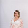 Weisses Schwangerschaftskleid aus Spitze