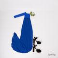 Langes Babybauhkleid in blau