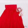 Rotes Babybauchkleid für Fotos