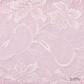 Detail: Bandeau rosa mit Spitze