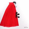 Schwangerschafts Abendkleid in rot für Fotoshooting