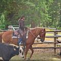Emma und ich beim CattleWork :)