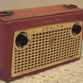 1957 Zenith Royal 750 The second Zenith leather transistorized portable radio.