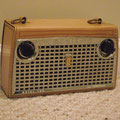 1956 Zenith Royal 700, this is Zenith's first leather transistorized portable radio.
