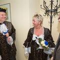 Das Prinzenpaar Claudia II & Ingo wird vom Ortsvorsteher empfangen