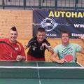 Erstes Training - v.l.: Jack Hunter-Spivey, Christian Scheiber, Christian Saiger